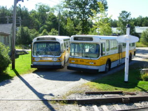 buses at the museum