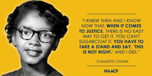 Claudette Colvin - civil rights - a seat for everyone